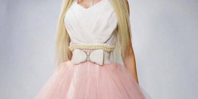 صور فساتين باربي منفوشه قصيرة , باربى احلى عروسة بفستانها القصير