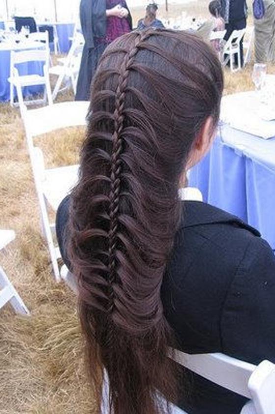صورة ضفائر الشعر الطويل , ضفائر جميله ورقيقه للفتايات الكيوت