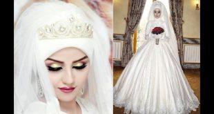 صور فساتين زفاف 2019 للمحجبات , فستان زفاف لاحلى عروسة