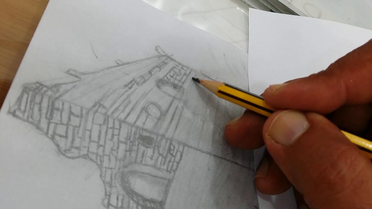 رسم بيوت شعبية بالرصاص اطلق لمخيلتك العنان و تخيل منزلك قبلات