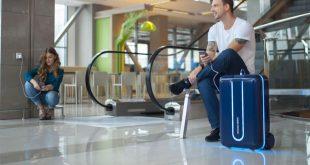 صورة حقيبة سفر ذكية , التكنولوجيا و عمايلها