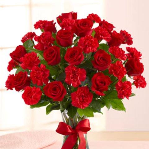 صورة اجمل بوكيه ورد لعيد الحب , بوكيهات ورود وهميه وجميله جدا لعيد الحب