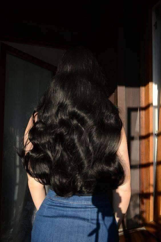 صورة شعر اسود طويل , الشعر هو تاج المراه