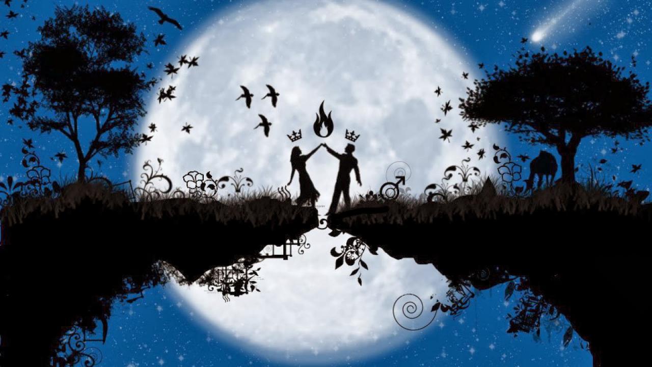 صوره رمانسيه للقمر جميله