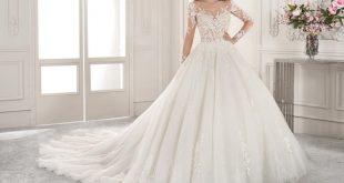 صورة احدث فساتين زفاف 2019 , فستان فرحك اعتبريه جهز