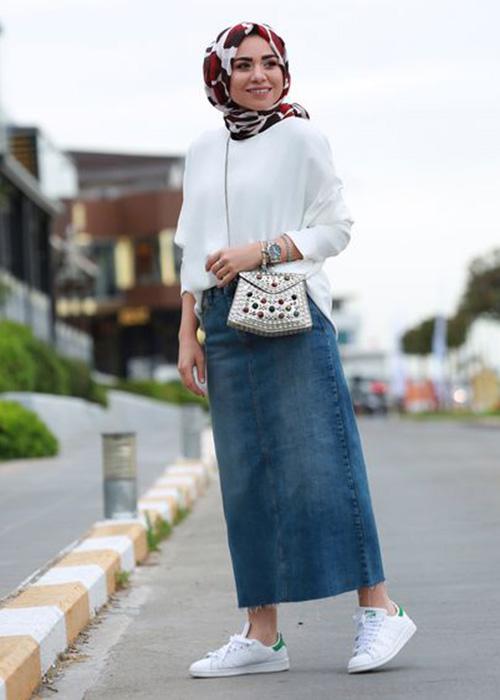 صورة اخر صيحات الموضة للمحجبات , تالقي بملابس جديدة