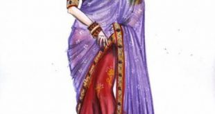 صورة طرق لبس الساري الهندي , كيف ارتدي الساري الهندي
