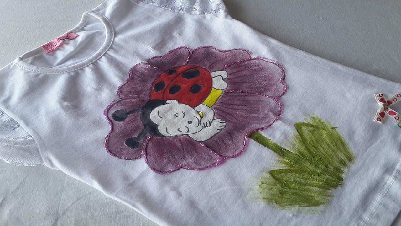 صورة رسم على القماش , استخدام الرسم فى تجميل الملابس