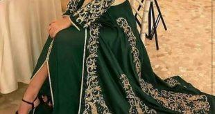 صورة ملابس مغربية 2019 , اشيك و احدث قفطان مغربى