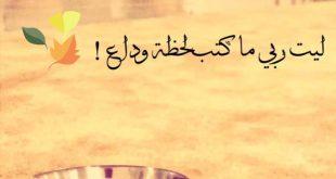 صورة ليت ربي ماكتب لحظة وداع كلمات , روائع ابو نورة جنان