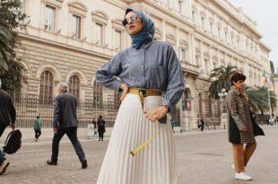 صورة تنورة طويلة 2019 , شياكة مفيش زيها