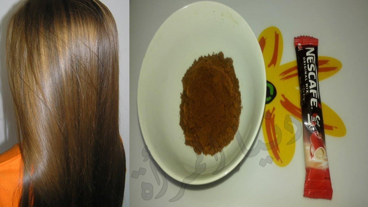 صورة صبغه طبيعيه بالنسكافيه و الكاكاو , صبغة طبيعية تفيد شعرك
