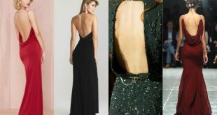 صورة فستان ظهر مفتوح , فستان انيق بفتحة ظهر يجنن