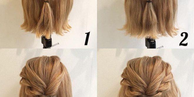 صورة تسريحة للشعر القصير جدا , تشكيله احلي تسريحات شعر قصير
