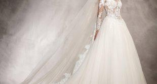صورة اجمل فساتين الزفاف للمحجبات , عروسة وبتدوري علي فستان فرحك معانا