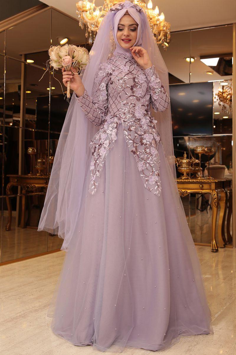 صورة اجمل فساتين الزفاف للمحجبات , عروسة وبتدوري علي فستان فرحك معانا 885 2