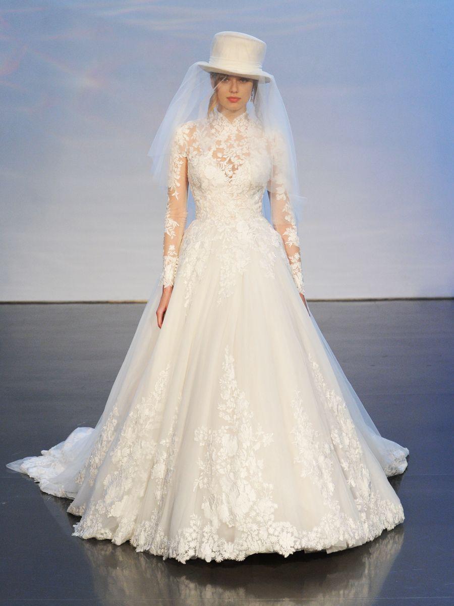 صورة اجمل فساتين الزفاف للمحجبات , عروسة وبتدوري علي فستان فرحك معانا 885 6