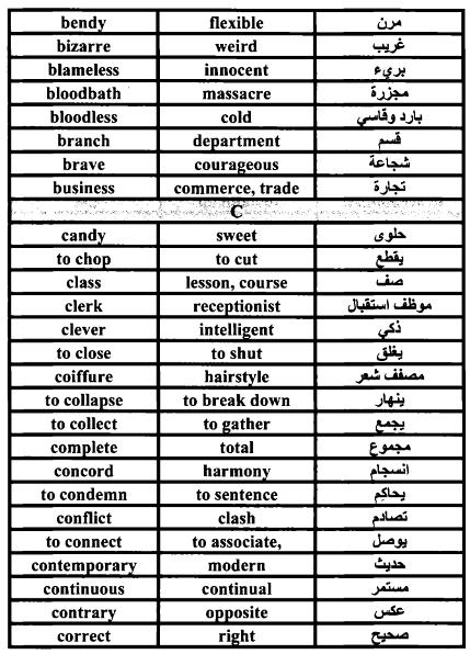 صورة مرادف الكلمات الانجليزية , خدلك فكرة و ذاكر لبكرة