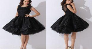 صورة فستان اسود قصير , تالقي باحدث موديلات فساتين سوداء قصيره