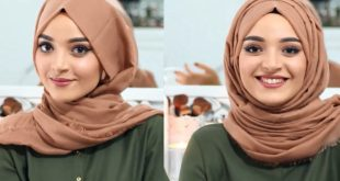 صورة لفات حجاب جديدة , تالقي باحدث لفات حجاب