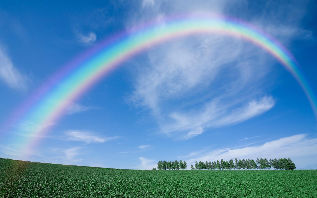 صورة ما هو قوس قزح , ما يسمي الوان التي تظهر في السماء