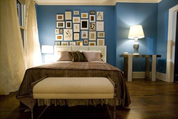 صورة غرف نوم باللون الازرق والبني , اجعلي غرفه اطفالك بالوان مميزة