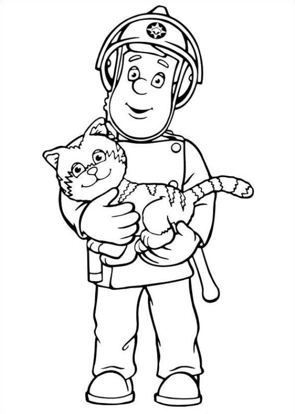 رسومات تلوين للاطفال عن الدفاع المدني Al Ilmu 12